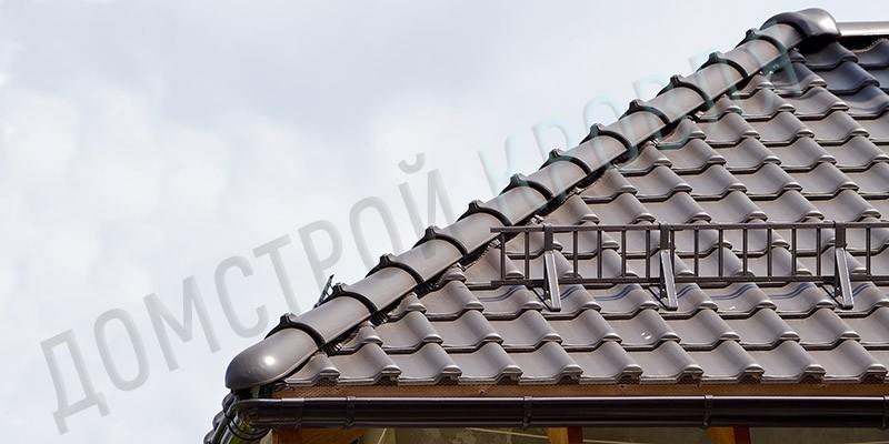Монтаж керамической черепицы Корамик Е32 Альтшварц