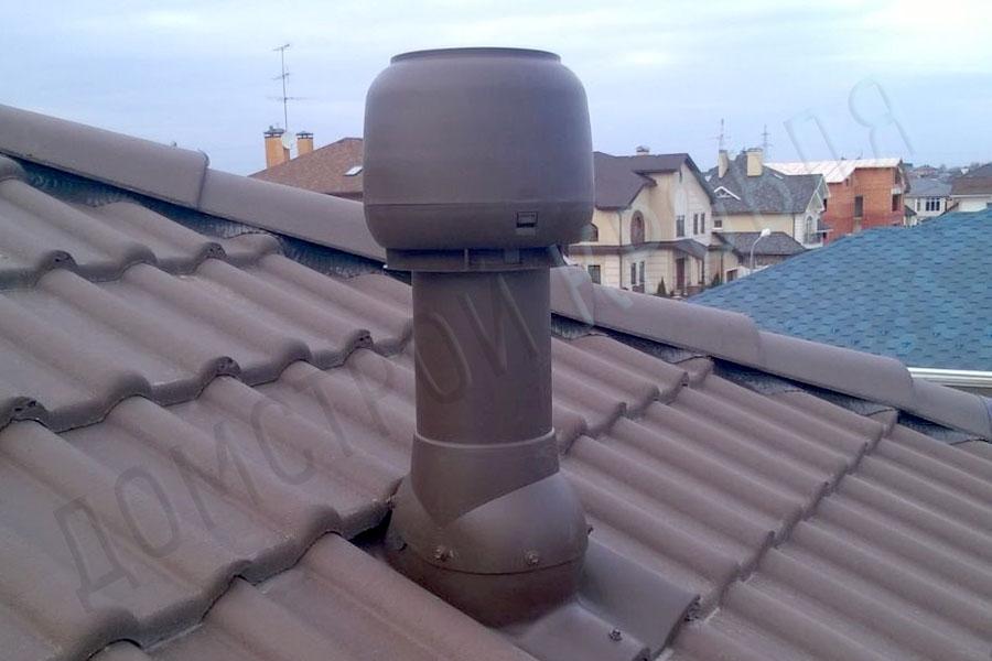 Вентиляционный выход 125/160 500 мм. Коричневый RAL 8017
