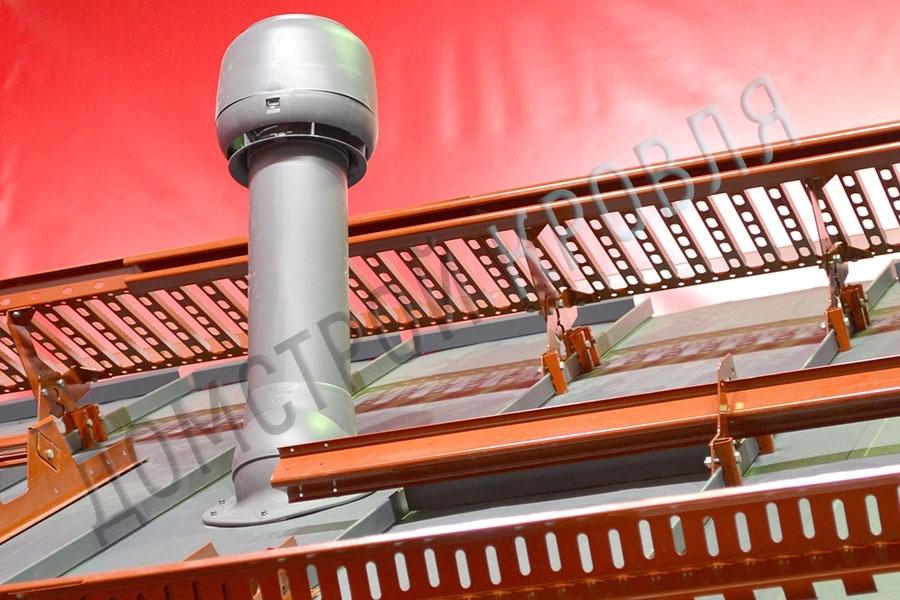 Вентиляционный выход 125/160 700 мм. Серый R23 (RAL 7015)