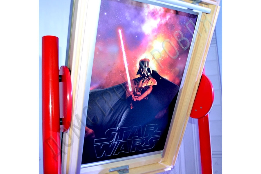 "Velux Затемняющая штора ""Сиеста. Цвет 4710 Darht Vader"